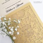 B Wedding Invitations with laser cut details and Ganesh image.